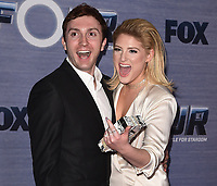 "HOLLYWOOD, CA - FEBURARY 8:  Daryl Sabara and Meghan Trainor at FOX's ""The Four: Battle for Stardom"" Season Finale Viewing Party  at Delilah on February 8, 2018 in Hollywood, California. (Photo by Scott Kirkland/FOX/PictureGroup)"