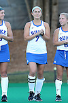 16 October 2015: Duke's Amanda Kim. The University of North Carolina Tar Heels hosted the Duke University Blue Devils at Francis E. Henry Stadium in Chapel Hill, North Carolina in a 2015 NCAA Division I Field Hockey match. UNC won the game 2-1.