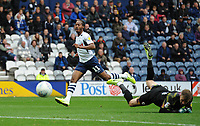 Preston North End's Daniel Johnson scores his side's third goal <br /> <br /> Photographer Kevin Barnes/CameraSport<br /> <br /> The EFL Sky Bet Championship - Preston North End v Barnsley - Saturday 5th October 2019 - Deepdale Stadium - Preston<br /> <br /> World Copyright © 2019 CameraSport. All rights reserved. 43 Linden Ave. Countesthorpe. Leicester. England. LE8 5PG - Tel: +44 (0) 116 277 4147 - admin@camerasport.com - www.camerasport.com