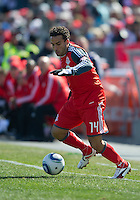 26 March 2011: Toronto FC midfielder Dwayne De Rosario #14 in action during an MLS game between the Portland Timbers and the Toronto FC at BMO Field in Toronto, Ontario Canada..Toronto FC won 2-0....