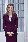 Queen Letizia of Spain attends the delivery of the Gold Medals to the Merit in Fine Arts 2013 at El Pardo Place in Madrid. February 02, 2015. (ALTERPHOTOS/Caro Marin)