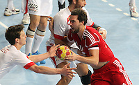 12.01.2013 Barcelona, Spain. IHF men's world championship, Quarter-Final. Picture show Kornel Nagy    in action during game between Denmark vs Hungary at Palau ST Jordi