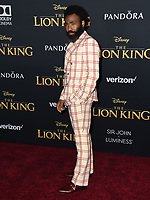 "09 July 2019 - Hollywood, California - Donald Glover. Disney's ""The Lion King"" Los Angeles Premiere held at Dolby Theatre. Photo Credit: Birdie Thompson/AdMedia"