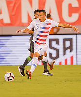East Rutherford, N.J. -  Friday September 7, 2018: The men's national teams of the United States (USA) and Brazil (BRA) play in an International friendly match at MetLife Stadium.