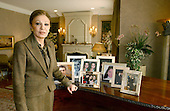 """Empress Farah Diba Pahlavi, the former Queen of Iran, discusses her life with the former Shah of Iran, Mohammed Reza Pahlavi, during an interview in McLean, Virginia on February 20, 2004.  She was the third wife of the Shah.  The Empress discussed her memoirs """"An Enduring Love: My Life with the Shah""""..Credit: Ron Sachs / CNP"""