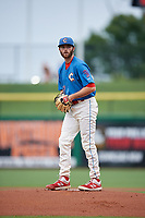 Clearwater Threshers starting pitcher Colton Eastman (47) during a Florida State League game against the Lakeland Flying Tigers on May 14, 2019 at Spectrum Field in Clearwater, Florida.  Clearwater defeated Lakeland 6-3.  (Mike Janes/Four Seam Images)
