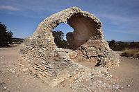 Water Reservoir; Villa of El Munts; I Century AD, Tarragona (Tarraco, Hispania Citerior), Catalonia, Spain; one of the largest built on a hill overlooking the coast, only 12 km from Tarragona (Tarraco).