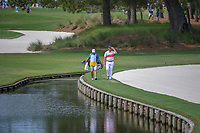 Jon Rahm (ESP) walks the water line to take a drop on 11 during round 3 of The Players Championship, TPC Sawgrass, at Ponte Vedra, Florida, USA. 5/12/2018.<br /> Picture: Golffile | Ken Murray<br /> <br /> <br /> All photo usage must carry mandatory copyright credit (&copy; Golffile | Ken Murray)