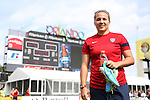 09 November 2013: Midfielder Amber Brooks. The United States Women's National Team held a Training Session at the Citrus Bowl in Orlando, Florida
