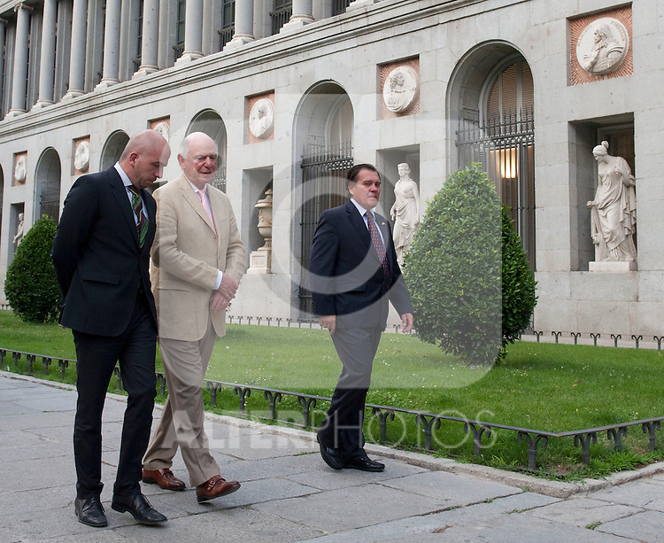 26/06/2012. MAdrid. Spain. The  Prado Museum.Velazquez pinter door. Eurovegas delegation visit.  The general director of Las Vegas Sands Michael Levin and Las Vegas Snds delegation arrives to the museun for a ptivate visit bearly 21.00h