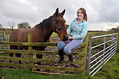 Horses notebook - Rachel McKenzie with Charlie - picture by Donald MacLeod - 19.10.12 - 07702 319 738 - clanmacleod@btinternet.com - www.donald-macleod.com
