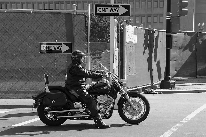 Biker in the Washington D.C. area.