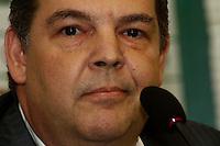 SAO PAULO, 18 DE MARÇO, 2013  - S.E. PALMEIRAS - APRESENTAÇÃO NOVA DIRETORIA DE MARKETING - Marcelo Giannubilo, novo   diretor de marketing do Palmeiras, durante entrevista coletiva na tarde desta segunda-feira(18), na Academia de Futebol, Barra Funda -  FOTO: LOLA OLIVEIRA - BRAZIL PHOTO PRESS