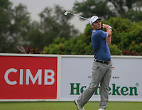 Matt Every (USA) on the 4th tee during Round 3 of the CIMB Classic in the Kuala Lumpur Golf & Country Club on Saturday 1st November 2014.<br /> Picture:  Thos Caffrey / www.golffile.ie