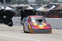 Apr. 26, 2013; Baytown, TX, USA: NHRA top sportsman driver Tom Schmidt during qualifying for the Spring Nationals at Royal Purple Raceway. Mandatory Credit: Mark J. Rebilas-