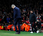 Atletico's German Burgos watches Arsenal Arsene Wenger during the Europa League Semi Final 1st Leg, match at the Emirates Stadium, London. Picture date: 26th April 2018. Picture credit should read: David Klein/Sportimage