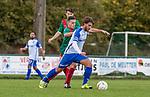 2017-11-05 / Voetbal / seizoen 2017 -2018 / KFCM Hallaar - K.Puurs EXC RSK / Jan-Pieter Vercammen (l.FCM Hallaar) met Joffery Van Der Doodt ,Foto: Mpics.be