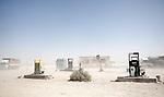 8 June 2013, Kholm District , Mazar-i-Sharif, Balkh Province, Afghanistan.   Petrol pumps in a dust storm in Kholm District , Mazar-i-Sharif. Picture by Graham Crouch/World Bank