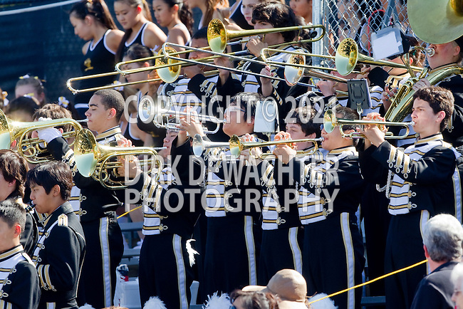 Palos Verdes, CA 09/09/11 - The band  in action during the North Torrance-Peninsula Panthers varsity football game.