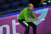 SCHAATSEN: HEERENVEEN: 05-10-2013, IJsstadion Thialf, Trainingwedstrijd, coach Gerard Kemkers, ©foto Martin de Jong