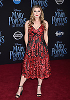 LOS ANGELES, CA - NOVEMBER 29: Katie Wilson attends the Premiere Of Disney's 'Mary Poppins Returns' at El Capitan Theatre on November 29, 2018 in Los Angeles, California.<br /> CAP/ROT/TM<br /> &copy;TM/ROT/Capital Pictures