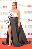 Scarlett Moffatt at the British Academy (BAFTA) Television Awards 2019, Royal Festival Hall, Southbank Centre, Belvedere Road, London, England, UK, on Sunday 12th May 2019.<br /> CAP/CAN<br /> &copy;CAN/Capital Pictures
