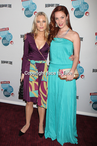 Imogen Lloyd Webber and Sierra Boggess arriving at the 14th Annual Broadway.com Audience Choice Awards at the Allen Room at Frederick P. Rose Hall, home of Jazz at Lincoln Center in New York, 05.05.2013...Credit: Rolf Mueller/face to face