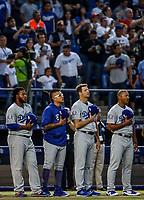 Julio UriasAcciones del partido de beisbol de los Dodgers de Los Angeles contra Padres de San Diego, durante el primer juego de la serie las Ligas Mayores del Beisbol en Monterrey, Mexico el 4 de Mayo 2018.<br /> (Photo: Luis Gutierrez).