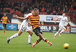 13.10.2018 Partick Thistle v Dundee Utd: Jai Quitongo pulls a goal back for Partick Thistle