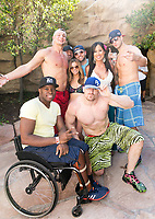 LAS VEGAS, NV - APRIL 29: Rob Gronkowski and Mojo Rawley at Rehab at The Hard Rock Hotel & Casino in Las Vegas, Nevada on April 29, 2017. Credit: GDP Photos/MediaPunch