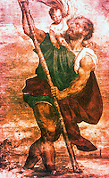 Venice:  Palazzo Ducale--St. Christopher by Titian.  Reference only.