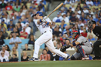 05/20/12 Los Angeles, CA: Los Angeles Dodgers catcher A.J. Ellis #17 during an MLB game between the St Louis Cardinals and the Los Angeles Dodgers played at Dodger Stadium. The Dodgers defeated the Cardinals 6-5.