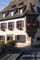 """Europe/France/Alsace/67/Bas-Rhin/Wissembourg : Maison de l'ami Fritz quartier du Bruch au bord de la Lauter - Ancienne maison de tanneurs construite vers 1550 de style Renaissance alsacienne, Lieu de tournage de """"L'Ami Fritz"""" d'Erckmann-Chatrian"""