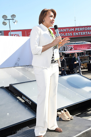 LAS VEGAS, NV - JANUARY 10:  Mayor of Flint Michigan, Karen Weaver speaks at the Zero Mass Water Booth during CES 2019 in Las Vegas, Nevada on January 10, 209. Credit: Damairs Carter/MediaPunch