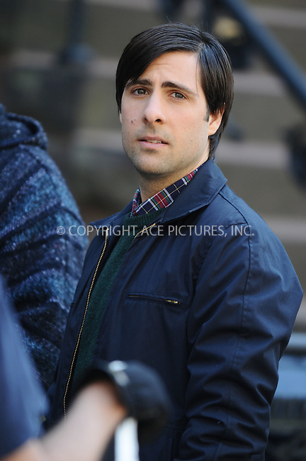WWW.ACEPIXS.COM . . . . .  ....**EXCLUSIVE ALL ROUNDER**....April 17 2009, New York City....Actor Jason Schwartzman on the Brooklyn set of the new movie 'Bored to Death' on April 17 2009 in New York City. ....Please byline: AJ Sokalner - ACEPIXS.COM..... *** ***..Ace Pictures, Inc:  ..tel: (212) 243 8787..e-mail: info@acepixs.com..web: http://www.acepixs.com