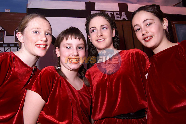 Edel Brannigan, Michelle Bolger, Pacelli Carolan and Ciara Caffrey who played the Russian Dancers in Drogheda Pantomime Society's production of Beauty and the Beast..Picture: Paul Mohan/Newsfile