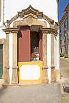 Small roadside religious Christian shrine on street, Castelo de Vide, Alto Alentejo, Portugal, southern Europe
