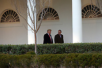 United States President Donald J. Trump speaks to Acting White House Chief of Staff Mick Mulvaney at the White House in Washington D.C., U.S. as he and First lady Melania Trump depart to attend the College Football Playoff National Championship in New Orleans, Louisiana on Monday, January 13, 2020.  The Senate is set to begin his impeachment trial later this week, after Speaker of the United States House of Representatives Nancy Pelosi (Democrat of California) faced increased pressure to send over the two articles of impeachment. <br /> CAP/MPI/RS<br /> ©RS/MPI/Capital Pictures
