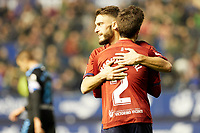 Nacho Vidal (defender; CA Osasuna)and Roberto Torres (midfield; CA Osasuna) after the Spanish football of La Liga 123, match between CA Osasuna and CD Lugo at the Sadar stadium, in Pamplona (Navarra), Spain, on Sanday, December 2, 2018.