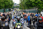 LONDON, ENGLAND, 22 May ,2014.  Bikers gather to mark the first anniversary of the murder of Fusilier Lee Rigby  near his Woolwich barracks.