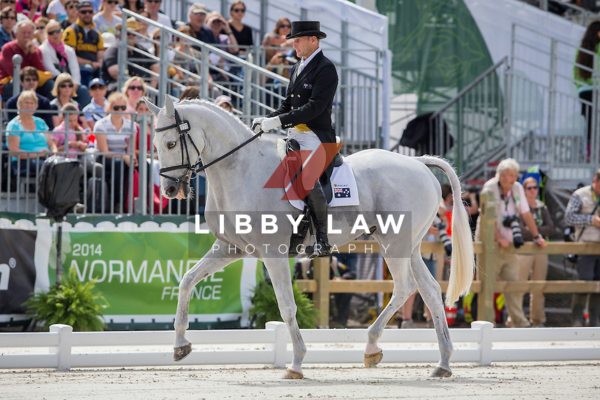 AUS-Stuart Tinney (PLUTO MIO) INTERIM-25TH: SECOND DAY OF DRESSAGE: EVENTING: The Alltech FEI World Equestrian Games 2014 In Normandy - France (Friday 29 August) CREDIT: Libby Law COPYRIGHT: LIBBY LAW PHOTOGRAPHY - NZL
