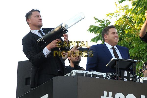 10 June 2014 - Westwood, California - Channing Tatum, Jonah Hill. &quot;22 Jump Street&quot; Los Angeles Premiere held at the Regency Village Theatre. <br /> CAP/ADM/BP<br /> &copy;Byron Purvis/AdMedia/Capital Pictures