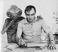 E.T. the Extra-Terrestrial (1982)  <br /> Behind the scenes photo of Carlo Rambaldi<br /> *Filmstill - Editorial Use Only*<br /> CAP/KFS<br /> Image supplied by Capital Pictures