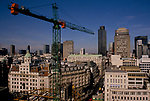 City of London new 1990s office blocks skyscrapers being built 1992 UK.