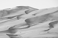 Great Sand Dunes (original in color)  Note the people near the top of the dunes for scale.