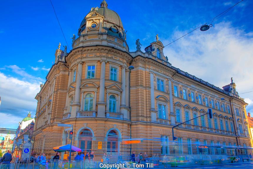 Buildings in Ljubljana, Slovenia, Capitol of Slovenia, Town Square Area, Largest city in Slovenia