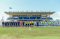 20190301 - LARNACA , CYPRUS : illustration picture during a women's soccer game between Slovakia and Nigeria , on Friday 1 March 2019 at the Antonis Papadopoulos Stadium in Larnaca , Cyprus . This is the second game in group C for both teams during the Cyprus Womens Cup 2019 , a prestigious women soccer tournament as a preparation on the Uefa Women's Euro 2021 qualification duels and FIFA Women's World Cup 2019 in France . PHOTO SPORTPIX.BE | STIJN AUDOOREN<br /> <br /> 20190301 - LARNACA , CYPRUS : Kristina Kosikova , Klaudia Fabova , Diana Bartovicova , Maria Mikolajova , Valentina Susolova , Monika Havranova , Terezia Kulova , Veronika Slukova , Lucia Harsanyova , Lucia El Dahaibiova , Jana Vojtekova (Team Slovakia)<br />  - German assistant referee Katrin Rafalski , German referee Riem Hussein , Hungarian referee Katalin Kulcsar and Scottish assistant referee Kylie Cockburn - Rita Chikwelu , Chiamaka Nnadozie , Osinachi Ohale , Ngozi Ebere , Josephine Chukwunonye , Sonia Okobi , Faith Ikidi Michael , Francisca Ordega , Ini-Abasi Umotong , Alice Ogebe , Cecilia Nku (Team Nigeria) pictured during a women's soccer game between Slovakia and Nigeria , on Friday 1 March 2019 at the Antonis Papadopoulos Stadium in Larnaca , Cyprus . This is the second game in group C for both teams during the Cyprus Womens Cup 2019 , a prestigious women soccer tournament as a preparation on the Uefa Women's Euro 2021 qualification duels and FIFA Women's World Cup 2019 in France . PHOTO SPORTPIX.BE | STIJN AUDOOREN