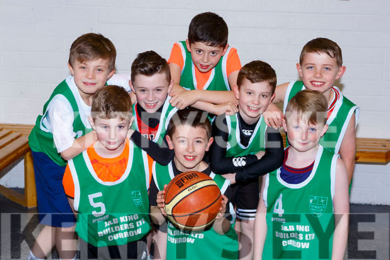 The St Bridgets team that played in the u10 Basketball blitz in Farranfore on Sunday front row l-r: Eric Jensen, Sean Dennehy, Harry Crowley. Back row: Sean O'Sullivan , Conor Clifford, Frank, Ben Brosnan and Rory O'Connor