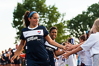 Sky Blue FC defender Rachel Breton (26). Sky Blue FC defeated the Boston Breakers 5-1 during a National Women's Soccer League (NWSL) match at Yurcak Field in Piscataway, NJ, on June 1, 2013.