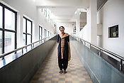Dr. Sharon Cynthia (33) poses for a photo in Duncan Hospital in Raxaul, Bihar, India.